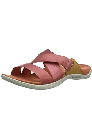 Merrell District Maya Slide, Sandalias de Punta Descubierta para Mujer, (Redwood)