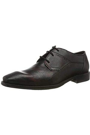 Daniel Hechter 811779021110, Zapatos de Cordones Derby para Hombre, (Black/Red 1030)