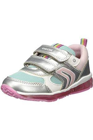 Geox B Todo Girl B, Zapatillas para Bebés, (Silver/Aqua C1w4a)