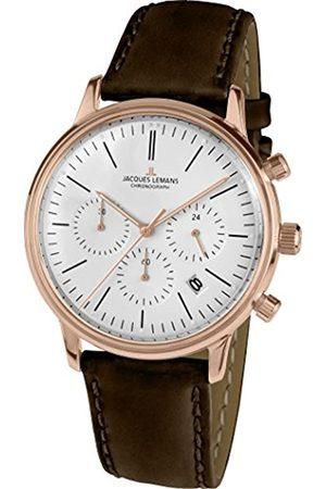 Jacques Lemans Reloj Cronógrafo para Unisex de Cuarzo con Correa en Cuero N-209ZD