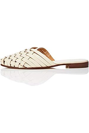 FIND Woven Open Back Leather Mocasines, Pink