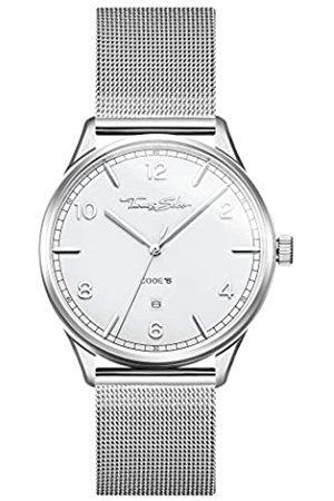 Thomas Sabo Reloj Analógico para Unisex Adultos de Cuarzo con Correa en Acero Inoxidable WA0338-201-202-40 mm