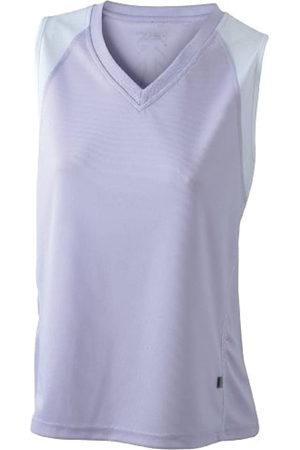 James & Nicholson Ladies' Running Tank - Camiseta Transpirable sin Mangas de Running para Mujer, Color Lila/