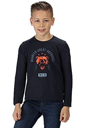 Regatta Wendell' Cotton Graphic Print Long Sleeve T-Shirt Polos/Camisetas, Infantil