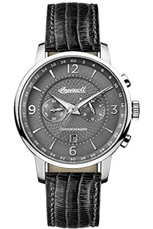 INGERSOLL 1892 Men's The Grafton Quartz Watch with Grey Dial and Black Leather Strap I00601