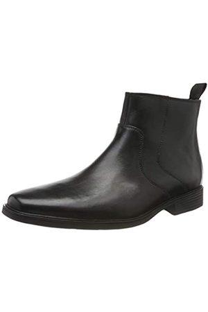 Clarks Tilden Up, Botas Chelsea para Hombre, Black Leather