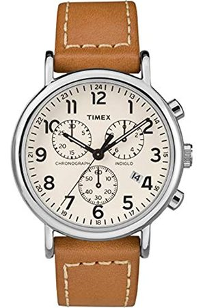 Timex Reloj Cronógrafo para Unisex Adultos de Cuarzo con Correa en Cuero TW2R42700