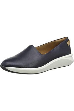 Clarks Un Rio Step, Zapatillas sin Cordones para Mujer, (Navy Leather Navy Leather)