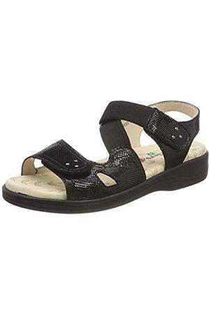 Padders Cruise Sandalias con correa de tobillo mujer, (Black Reptile)
