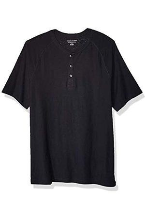 Amazon Hombre Casual - Camiseta ajustada de manga corta estilo henley hecha de algodón flameado para hombre