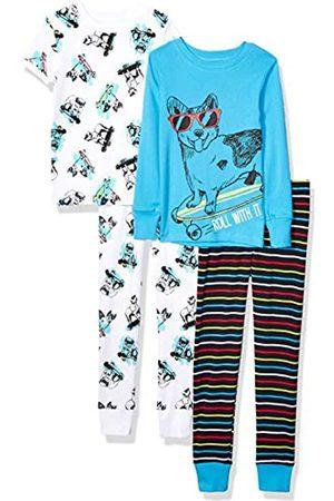 Spotted Zebra Unisex bebé 4-piece Snug-fit Cotton Pajama Set