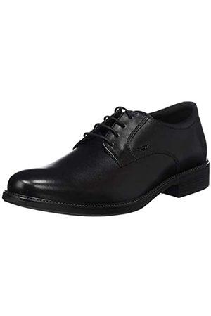 Geox Uomo Carnaby D, Zapatos de Cuero con Cordones para Hombre, (Black 9999)