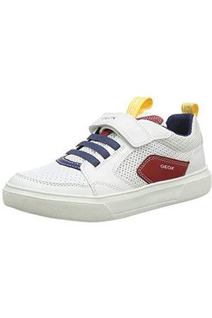 Geox J Nettuno Boy C, Zapatillas para Niños, (White/Red C0050)