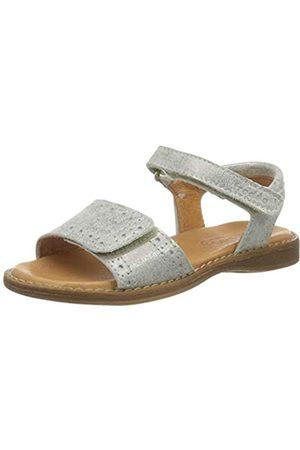 Froddo G3150151 Girls Sandal, Sandalias con Punta Abierta para Niñas, (Silver I12)