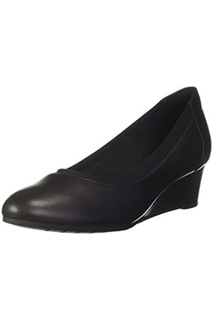 Clarks Mallory Berry, Sandalias con Punta Cerrada para Mujer, (Black Leather Black Leather)