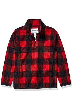 Amazon Quarter-Zip Polar Fleece Jacket Outerwear-Jackets, Exploded Red Buffalo Check