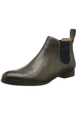 Melvin & Hamilton Sally 16, Zapatos de Cordones Derby para Mujer, (Grey Crust-Grigio-Elastic Glitter-Navy-Lining-Rich Tan-Insole Leather-HRS-Black)