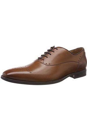 Geox New Life, Zapatos de Cordones Oxford para Hombre, (Cognac C6001)