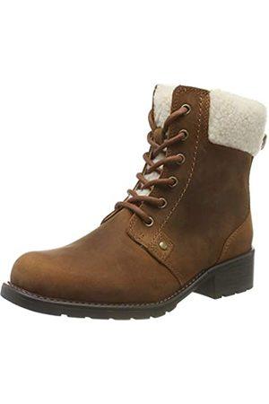 Clarks Orinoco Dusk, Botas Estilo Motero para Mujer, (Tan Leather Tan Leather)