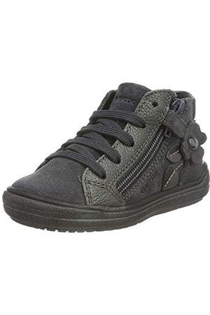 Geox J HADRIEL Girl A, Zapatos de niña Transpirable con Suela Protectora para Niñas, ( Oscuro)