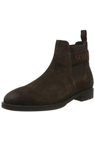SCOTCH & SODA FOOTWEAR Picaro, Botas Chelsea para Hombre, (Dark Brown S46)