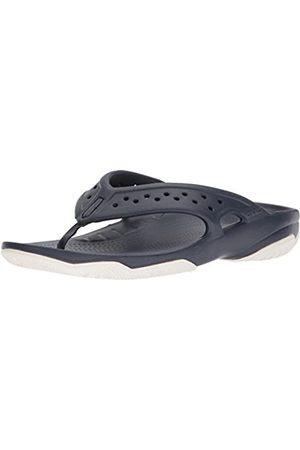 Crocs Swiftwater Deck Flip Men, Hombre Sandalia, (Navy/White)