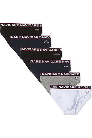 NAVIGARE 324, Slip para Hombre, Multicolor (Bianco/Nero/Antracite/Navi Bianco/Nero/Antracite/Navi), Medium (Tallas De Fabricante:4)