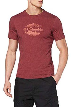Columbia M High Dune Camiseta Estampada De Manga Corta, Hombre