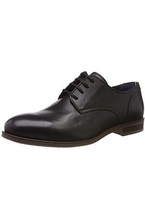 Tommy Hilfiger Dress Casual Leather Shoe, Zapatos de Cordones Oxford para Hombre, (Black 990)