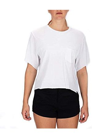 Hurley W Dwellers Crop Pocket Crew tee Camisetas, Mujer