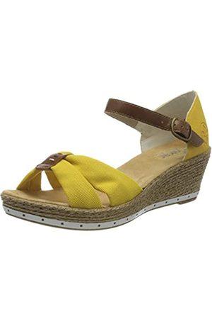 Rieker Frühjahr/Sommer, Sandalias Punta Cerrada para Mujer, (Yellow/Amaretto/Gelb 69)
