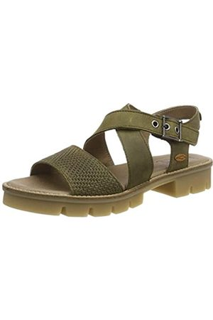 Camel Active Canberra S. 71, Sandalias con Plataforma para Mujer, (Olive 3)