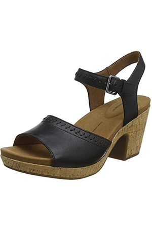 Rockport Vivianne 2 Part Wedge Sandal, Sandalias de Plataforma para Mujer, (Black 001)
