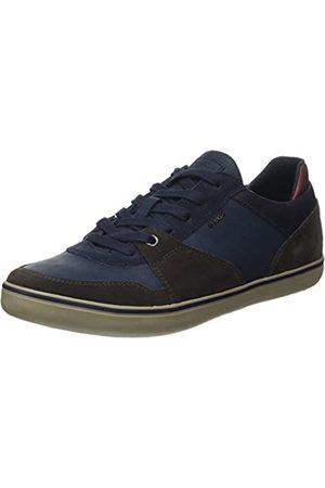 Geox U Box A, Zapatillas para Hombre, (Dk Coffee/Navy)