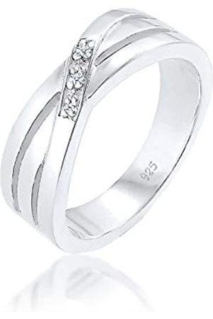 DIAMORE Mujer de ley 925 redondo blanco diamante FINERING