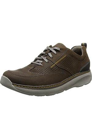 Clarks Charton Mix, Zapatos de Cordones Derby para Hombre, (Dark Brown Lea)