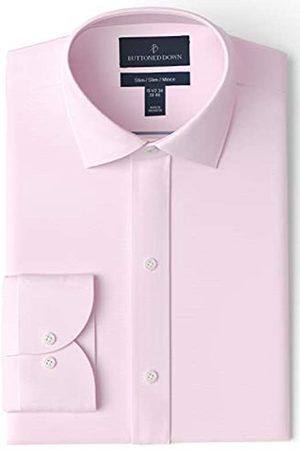 Buttoned Down Slim Fit Spread Collar Solid Non-Iron Dress Shirt Camisa