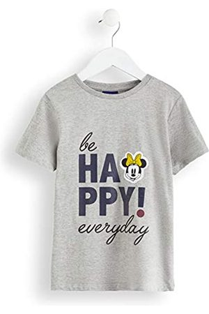 RED WAGON Girl's Minnie Mouse Mouse Slogan T-Shirt, Grey (Grey Marl)