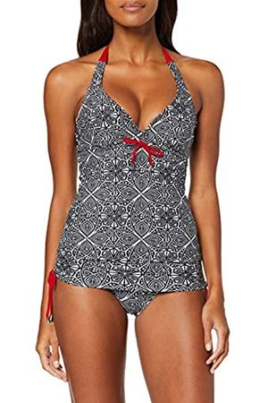 Pour Moi ? Starboard Underwired Halter Tankini Top, Black/Deep Red