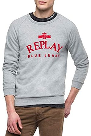 Replay M3916 .000.21842 Sudadera, (Light Grey Melange. M05)