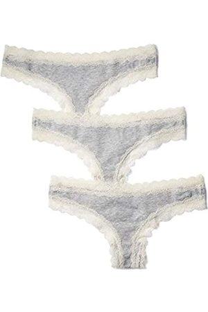 IRIS & LILLY Tanga Body Natural para Mujer, Pack de 3