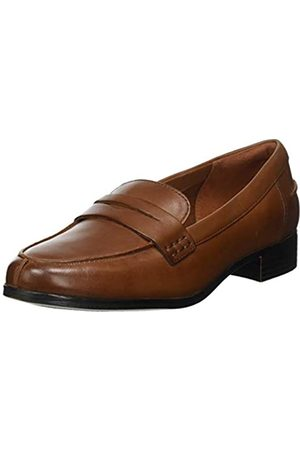 Clarks Hamble Loafer, Mocasines para Mujer, (Tan Leather Tan Leather)