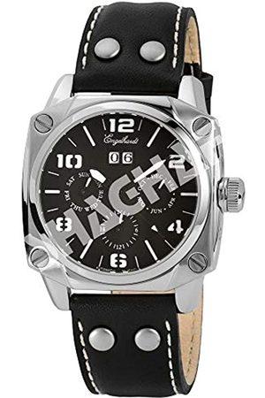 Engelhardt 387721029013 - Reloj analógico de caballero automático con correa de piel negra - sumergible a 50 metros