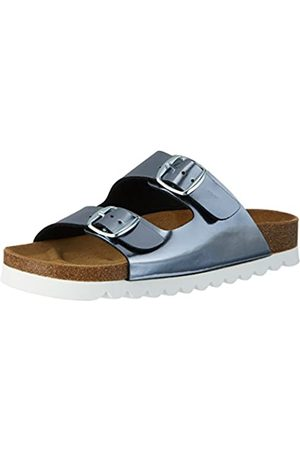 LICO Bioline Chic, Mules para Mujer, Silver