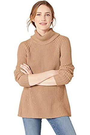 Goodthreads Cotton Half-Cardigan Stitch Turtleneck Sweater Sweaters