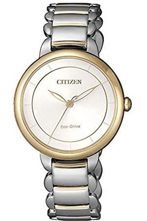 Citizen Reloj Analógico para Mujer de Cuarzo con Correa en Acero Inoxidable EM0674-81A