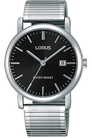 Lorus Watches Hombre Reloj de Pulsera clásico analógico de Cuarzo Acero Inoxidable Revestimiento rg857cx9