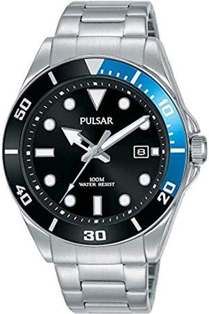 Seiko Pulsar Reloj de Vestir Inspirado en Diver con Pulsera de Acero Inoxidable PG8293X1