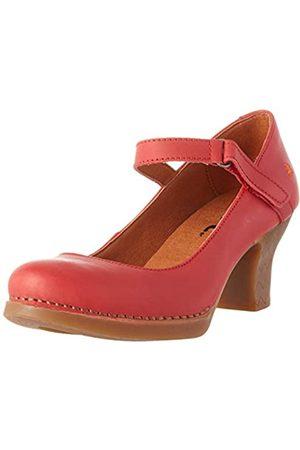 Art Mujer Tacón - Harlem, Zapatos de tacón con Punta Cerrada para Mujer, (Red Red)