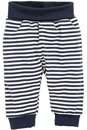 Schnizler Babyhose, Pumphose Maritim geringelt mit elastischem Bauchumschlag, Oeko-Tex Standard 100, Pantalones deportivos Bebé niños, (Marine/weiß)